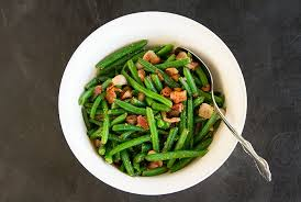 sesame green beans with bacon and chestnuts recipe la fuji