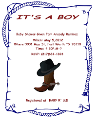 western baby shower clip art 27