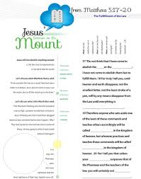 Ten Commandments Worksheets For Kids Worksheet To Teach Jesus Sermon On The Mount From Matthew Chapter