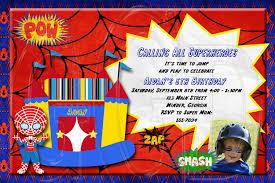 Superhero Invitation Card Spiderman Inspired Invitation Superhero Bounce House Digital