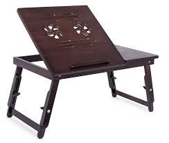 basic lap table bed tray amazon com sofia sam bamboo ventilation lap tray with adjustable