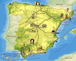 Map Spain Map Of Spain U2014 Planetolog Com