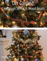 Christmas Decor Diy Ideas With Wood Diy Garland Cinnamon Sticks U0026 Wood Beads Diy Christmas Garland