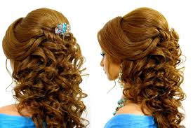 romantic wedding hairstyle for long hair tutorial youtube