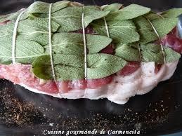 sauge en cuisine rôti de veau à la sauge cuisine gourmande de carmencita