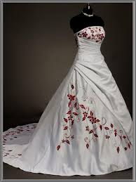 Red And White Wedding Dresses Red And White Corset Wedding Dress Naf Dresses