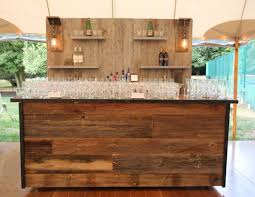 bar rentals reclaimed barnwood bar couture event rentals nyc custom event