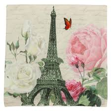 panoramic paris 18x18 eiffel tower u0026 flowers print throw pillow