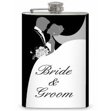 and groom flasks flasks 8oz and groom memento flask