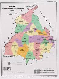 Punjab India Map by Boredr Areas Difficult Areas