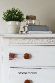 how to use decorative wax to bring out details in painted furniture