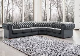 Grey Leather Sectional Sofa Furniture L Shape Gray Leather Sectional Sofa With Back And Arm