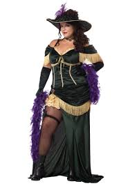 plus size saloon madame costume