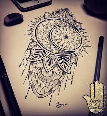 thigh tattoo sketches sun and moon tattoo design idea mendi mandala drawing drawing
