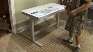 tresanti sit to stand power height adjustable tech desk computer desk with hutch costco woodworking challenge