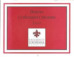 honors centennial calendar year 2000 university honors program
