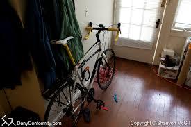 Bicycle Ceiling Hoist by Installing A Ceiling Hoist Bike Rack Denyconformity Com