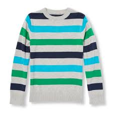 s boys sleeve striped sweater gray the children s place