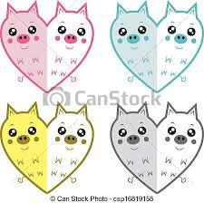 clipart vector cute pigs cute cartoon pig heart symbols