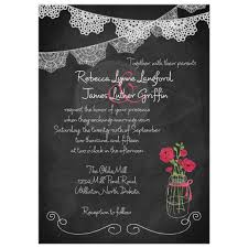 jar wedding invitations jar wedding invitation chalkboard lace bunting