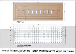 Bus Floor Plans inter state bus terminus bathinda punjab