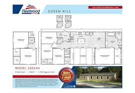 green hill 4 2 double wide mobile home