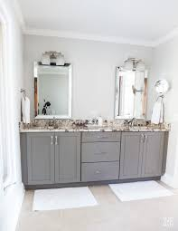 my bathrooms decor to in own style new and old grey master