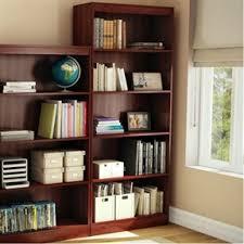 five shelf eco friendly bookcase in royal cherry finish