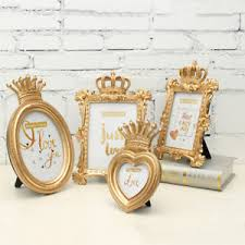 crown decor gold crown decor picture photo frame baroque luxury style ebay