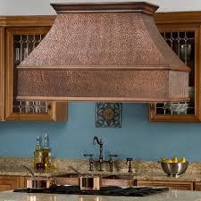 kitchen entertaining copper under cabinet range hood vent for