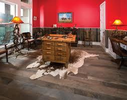 barn beams become custom flooring at texas ranch wood floor