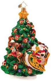 christopher radko glass wrappin u0027 around christmas tree ornament