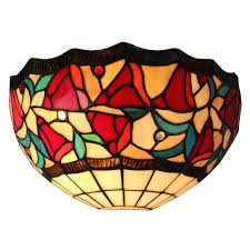 Tiffany Style Wall Sconces Amora Lighting Tiffany Style Floral Wall Sconce Lamp Am1096wl12