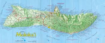 Map Hawaii Molokai Road Map Molokai Hawaii U2022 Mappery
