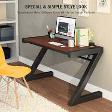 Simple Office Table Metal Computer Desk Tribesigns Z Shaped Office Desk U0026 Workstation With