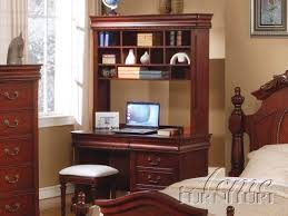 Computer Desk With Hutch Cherry Traditional Home Accessories Computer Desks For Home Cherry