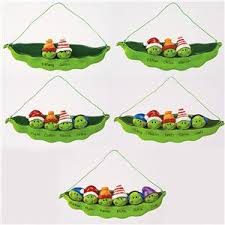 peas in a pod ornaments personalized seasonal gifts
