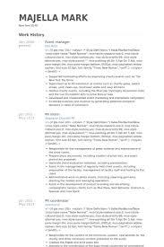 Pr Resume Examples by Event Manager Resume Samples Visualcv Resume Samples Database