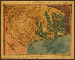 Austin Map by Texas 1822 Stephen F Austin Mapa Topografico Manuscript Map