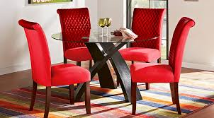 cheap red dining table and chairs dining room sets suites furniture collections