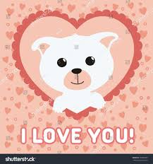 valentine s day happy valentines day card funny puppy stock vector 363828983