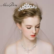 wedding headdress free shipping earrings bridal headdress necklace three