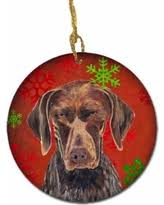 amazing deal german shorthaired pointer snowflakes