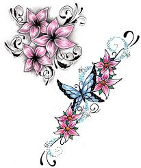 clipart floral design pencil and in color clipart