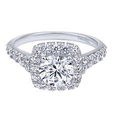 cushion halo engagement rings gabriel co contemporary collection cushion halo