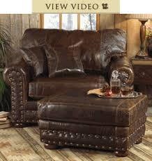 rustic chairs u0026 old hickory ottomans