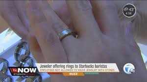 local jewelry offers free wedding bans to starbucks employers
