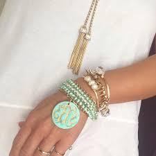 monogrammed bracelets laced monogrammed bracelets brown designs