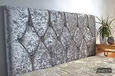 Silver Velvet Headboard by Diamond Headboard Ebay