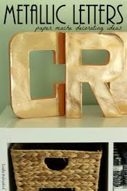 Tori Spelling Home Decor Decorating Paper Mache Letters For The Home